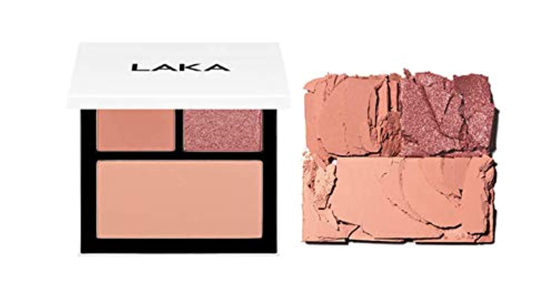 LAKA JUST PALETTE 彩度、粒子の完全な調和告発色と密着高地に独特のクオリティの高さアイシャドウパレット、チーク兼用(並行輸入品) (ENERGY)