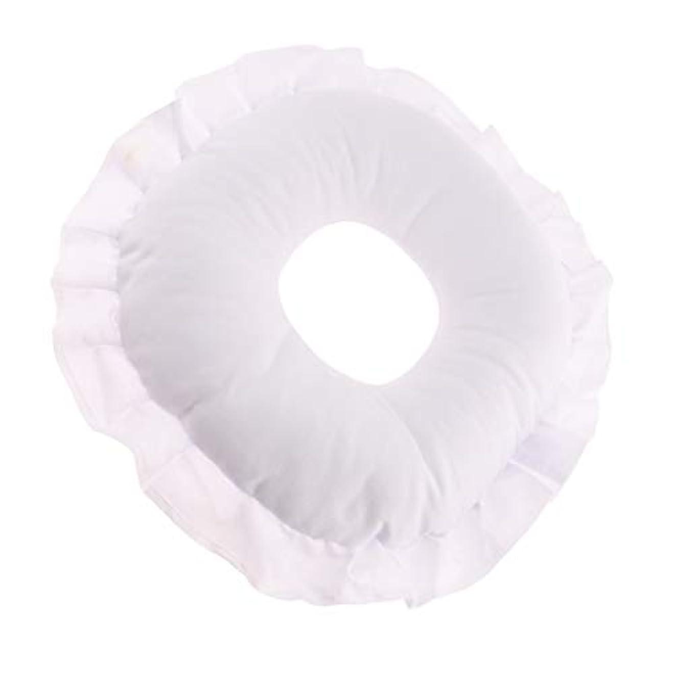 メンバー副詞出席全3色 フェイスピロー 顔枕 マッサージ枕 マッサージテーブルピロー 柔軟 洗えるカバー リラックス - 白