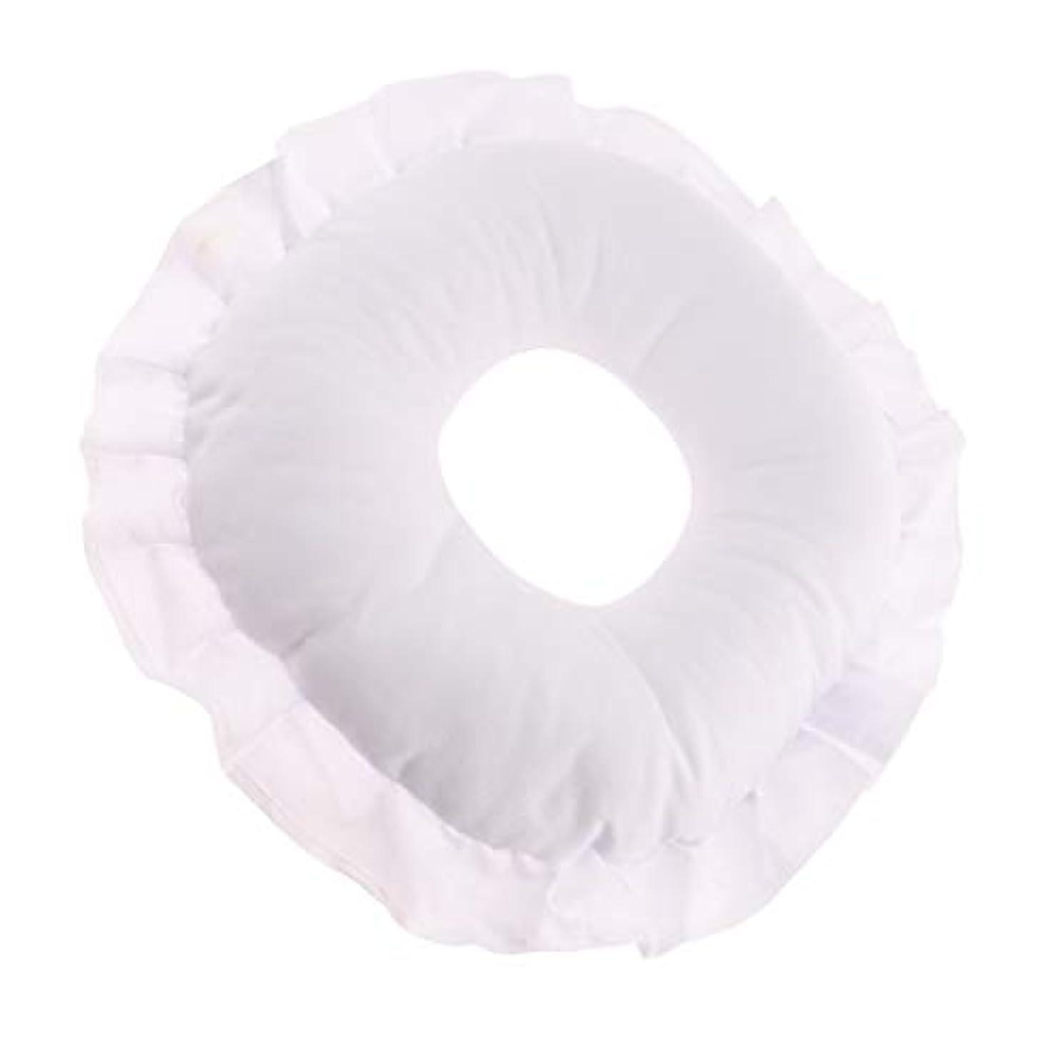 苦行スクラブ遮るCUTICATE 全3色 フェイスピロー 顔枕 マッサージ枕 マッサージテーブルピロー 柔軟 洗えるカバー リラックス - 白