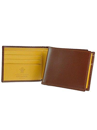 [エッティンガー] ETTINGER 二つ折り財布(小銭入れ付) ハバナブラウン BILLFOLD WITH 3 C/C & COIN PURSE BH141JR HAVANA [並行輸入品]