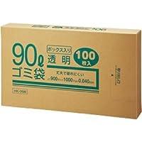 (まとめ) クラフトマン 業務用透明 メタロセン配合厚手ゴミ袋 90L BOXタイプ HK-098 1箱(100枚) 【×5セット】 ds-1574141