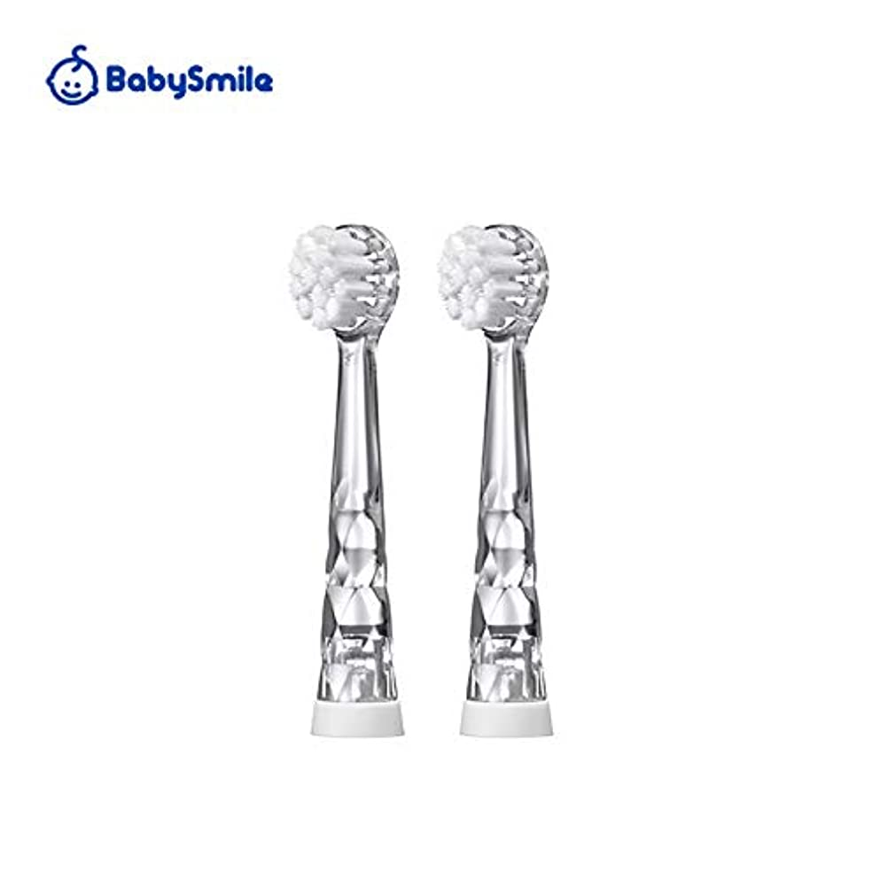 扇動するペン保持するこども用電動歯ブラシ ベビースマイルレインボー替えブラシ(ソフト) S-204RB