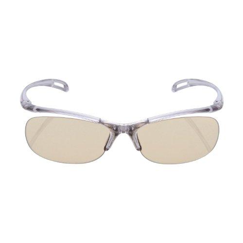 エレコム ブルーライト対策眼鏡 日本製 超吸収 ブラウンレンズ グレー OG-YBLP01GY