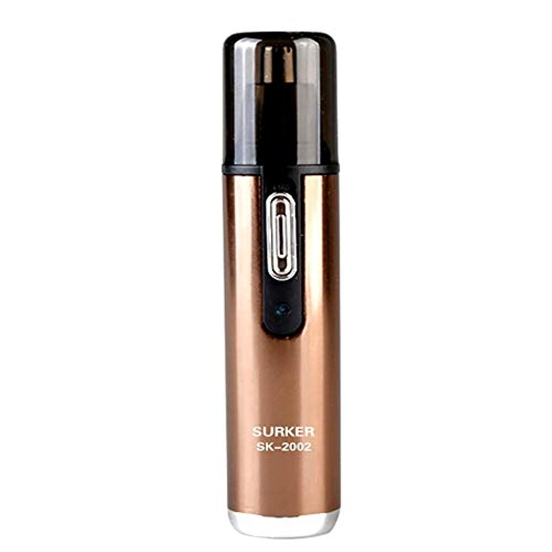 寛大さ困惑ミリメーター鼻のヘアトリマーは使いやすいです男性と女性のための50 dB以下の内部360°回転でノイズのある明るいLEDライトで、保護カバーで掃除しやすいです