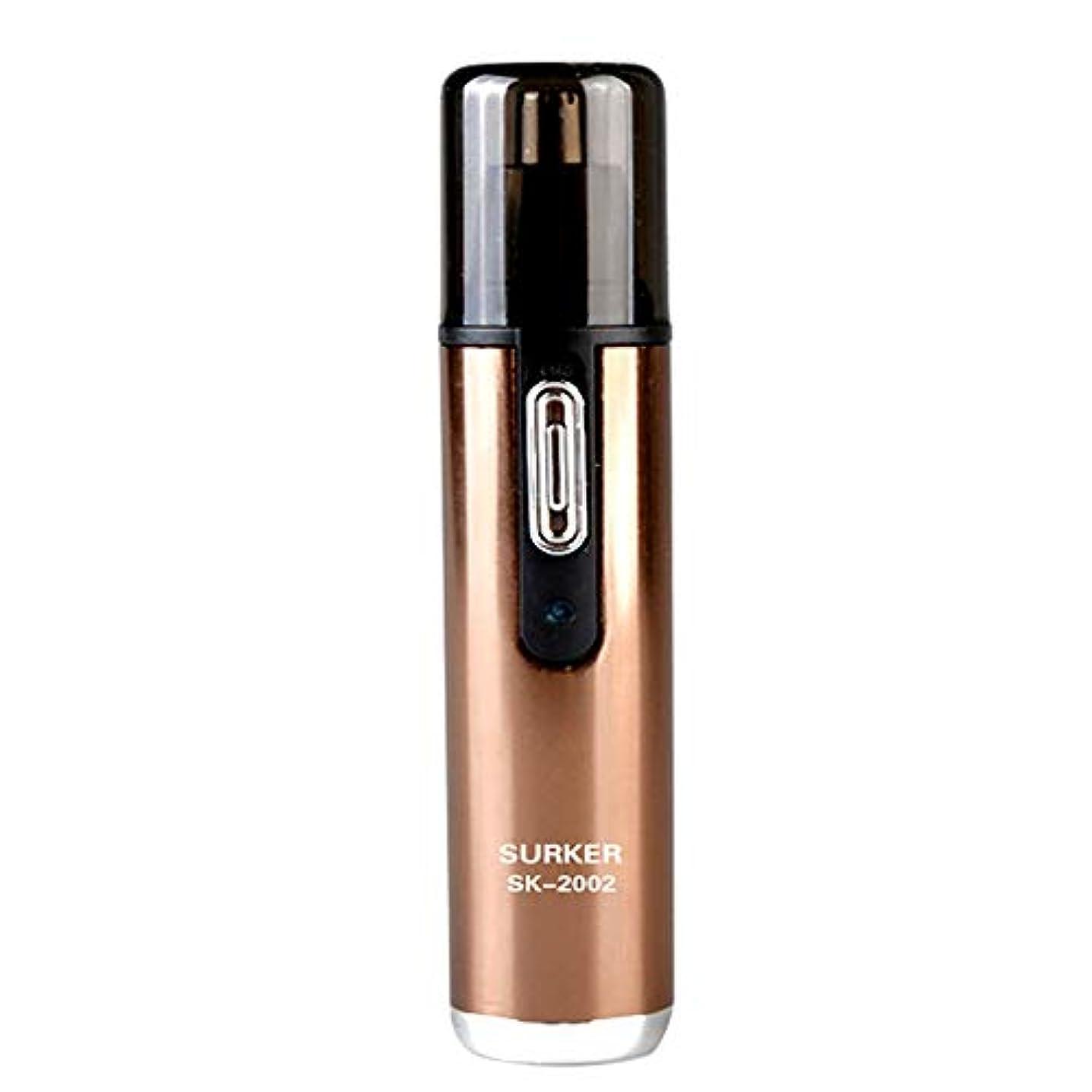 裁判所師匠受動的鼻のヘアトリマーは使いやすいです男性と女性のための50 dB以下の内部360°回転でノイズのある明るいLEDライトで、保護カバーで掃除しやすいです