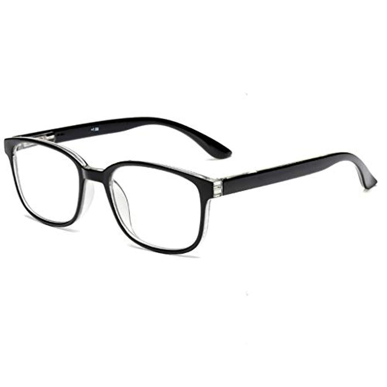 HDペンホルダー老眼鏡男性と女性のファッションポータブル超軽量樹脂老眼鏡遠視古いライトミラー 花が咲く (Color : A, Edition : +1.00)