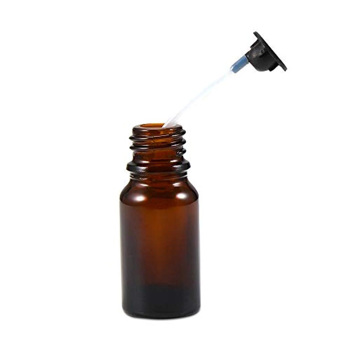 危険にさらされている一流半円Caseceo エッセンシャルオイル ボトルとノズル 交換用 アクセサリー 数量1
