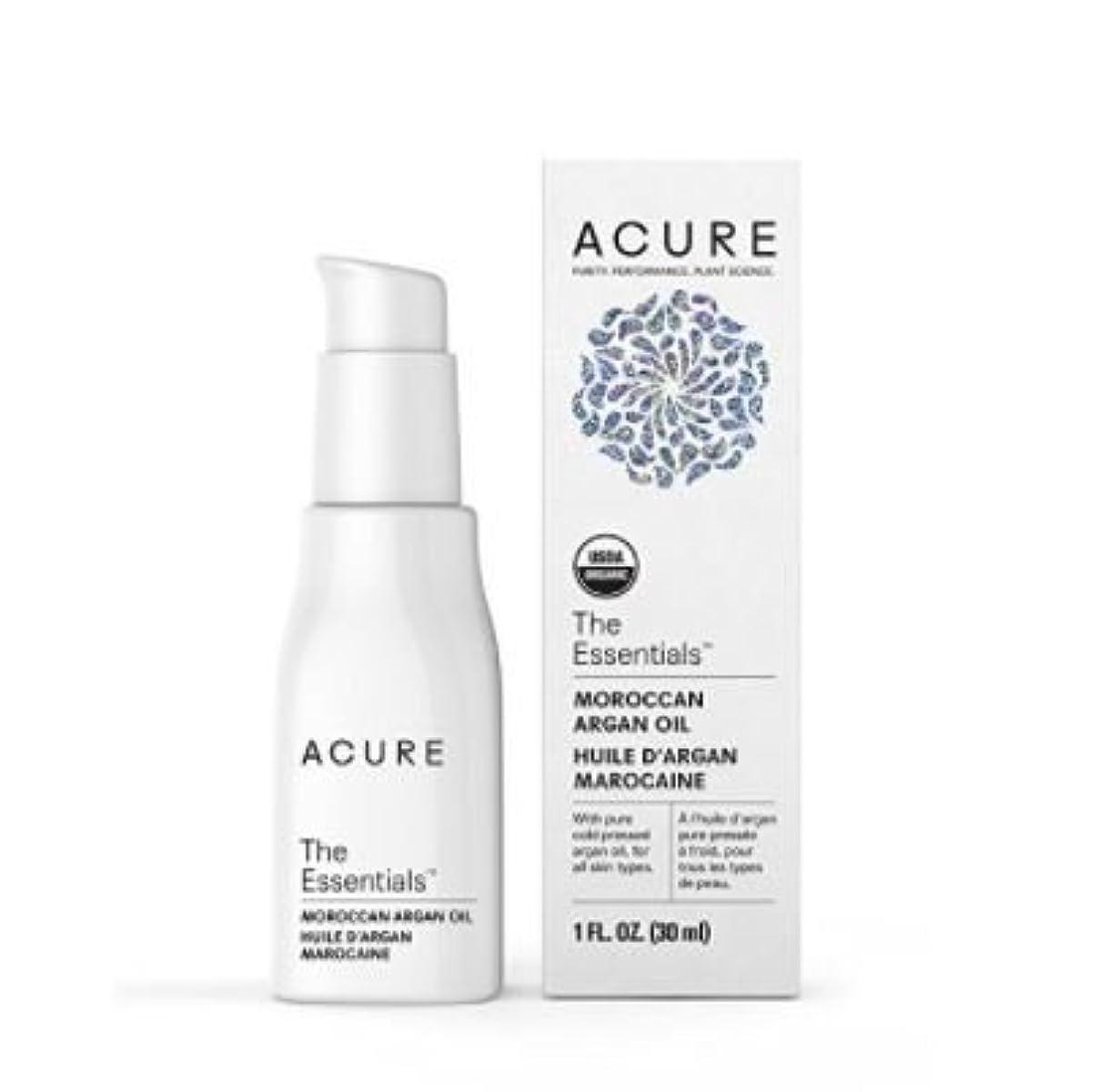 ベンチ恒久的嬉しいですAcure Organics オーガニック モロッコ原産 アルガンオイル トリートメント 全ての肌タイプ用 1 oz 30ml【並行輸入品】