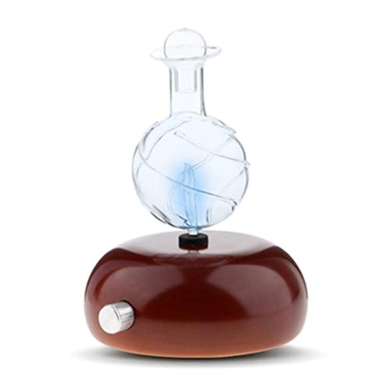いま詩盆地タッチセンサーライトスイッチが付いている純粋な本質的な拡散器を霧化しなさい優れた家及び専門の使用、熱無し、水無し、プラスチック無し (Color : Dark wood grain)