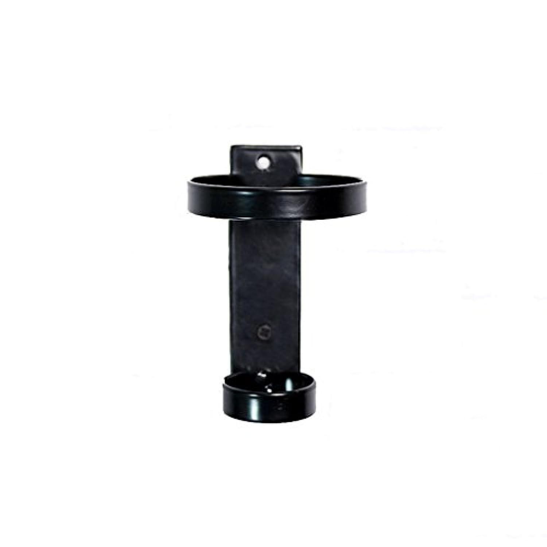 ブラックウォールマウントワインラック金属産業風ワインボトルホルダーレトロクリエイティブウォールデコレーション(サイズ:8.5 * 9 * 13センチメートル)