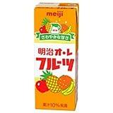 明治 オ・レ フルーツ200ml紙パック×24本入×(2ケース)