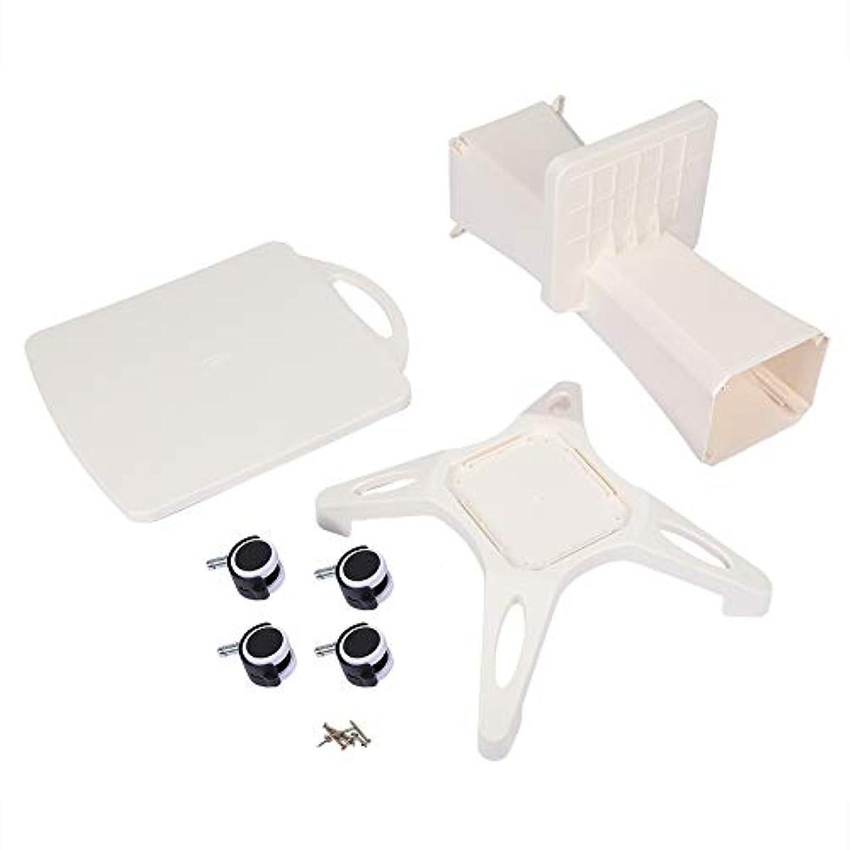 雰囲気可能にする何もない美容院のトロリー、世帯および美容院装置の使用のためのABS貯蔵の棚が付いている4つの車輪の圧延カート