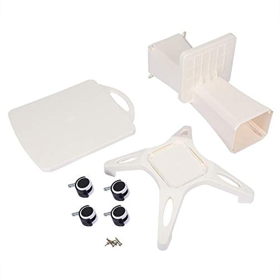 樹皮オフセット副美容院のトロリー、世帯および美容院装置の使用のためのABS貯蔵の棚が付いている4つの車輪の圧延カート