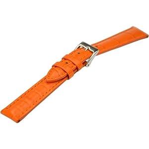 [カシス]CASSIS DONNA ドナ カーフ クロコダイル型押し時計ベルト 12mm オレンジ カーフ時計ベルト D0000312 086 012