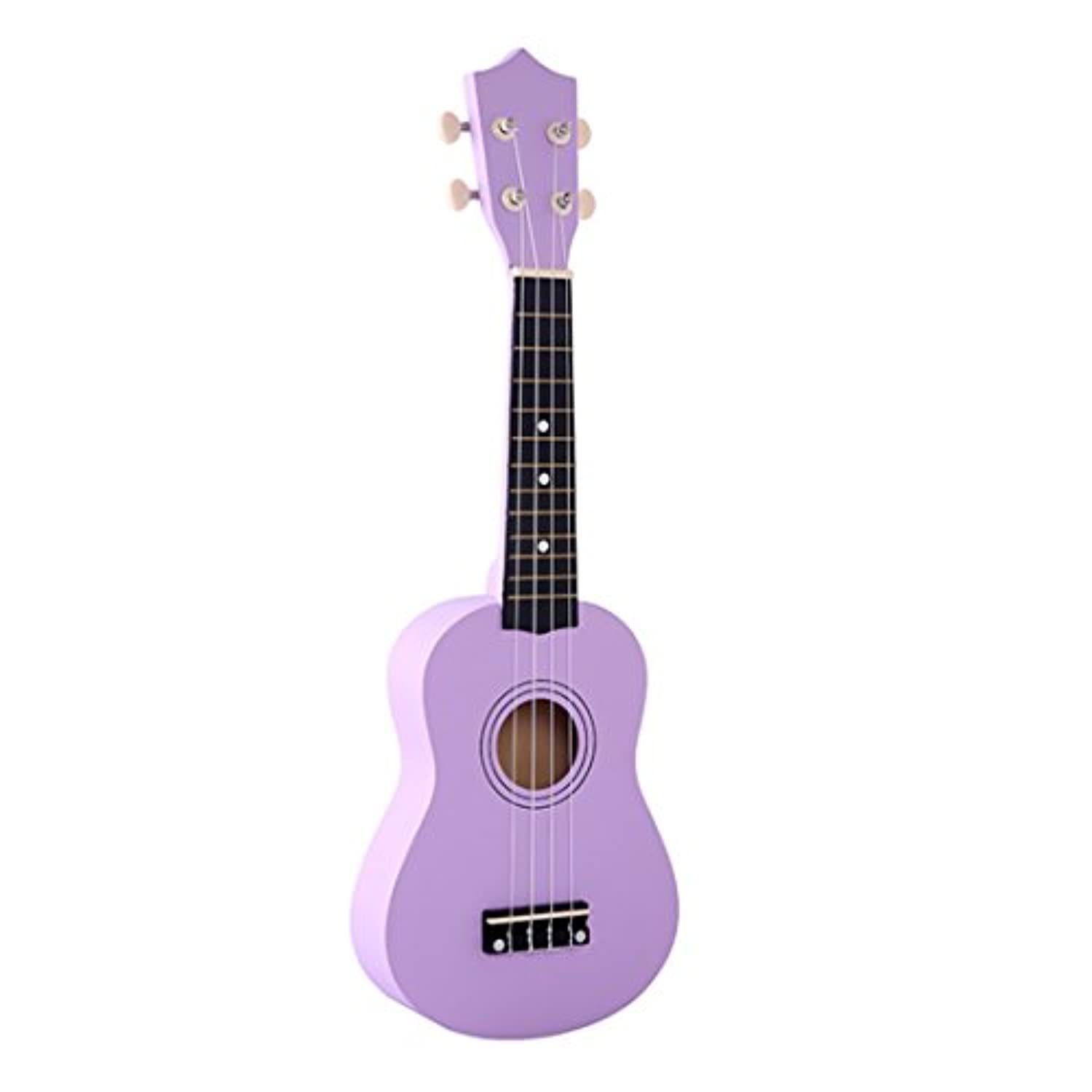 (50cm , Black) - iTECHOR 50cm Environmental Children Guitar Sopraro Wooden Ukulele For Adults Kids - Black