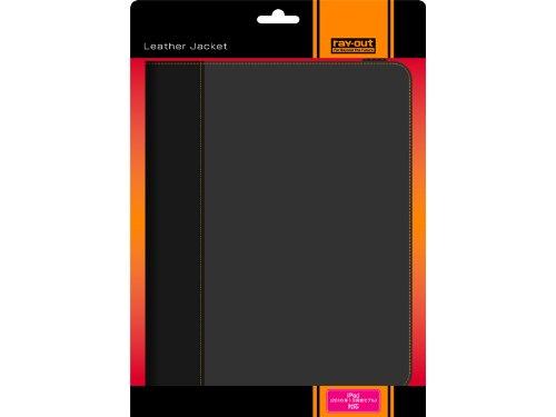 レイアウト iPad(2010年1月発表モデル)用フラップタイプレザージャケット/ブラック RT-PA1LC1/B