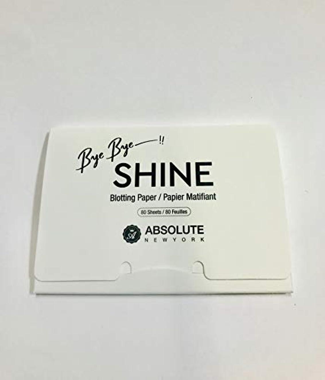 マイナー近代化日曜日ABSOLUTE Bye Bye Shine Blotting Paper (並行輸入品)