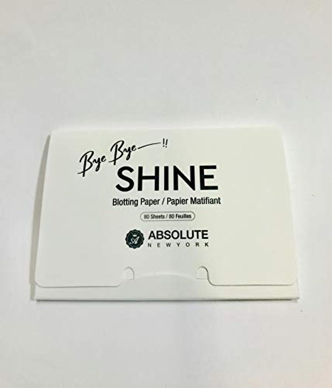 アルファベット種類きらめきABSOLUTE Bye Bye Shine Blotting Paper (並行輸入品)