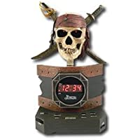 Disney Pirates of the Caribbeanアラームクロックラジオおもちゃクリスマスギフト