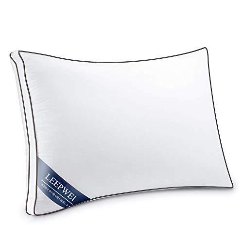 LEEPWEI枕 安眠 人気 肩こり 通気 快眠枕 高反発枕 高度調節可能 立体構造 丸洗い可能 高級ホテル仕様 43x63cm ホワイト 家族のプレゼント