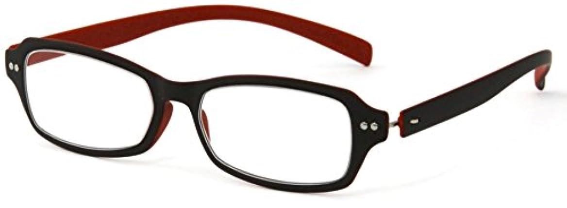 デューク 老眼鏡 +3.5 度数 ネオクラシック 超軽量フレーム ソフトケース付き マットブラウン オレンジ GLR01-7+3.50