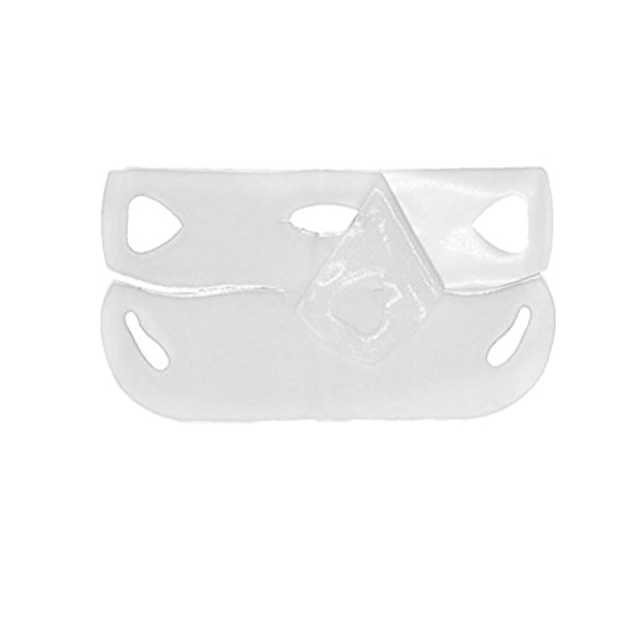 LURROSE 4PCS vフェイスマスクフェイスマスクフェイスケアv字型あごライン輪郭持ち上がる引き締め保湿マスク