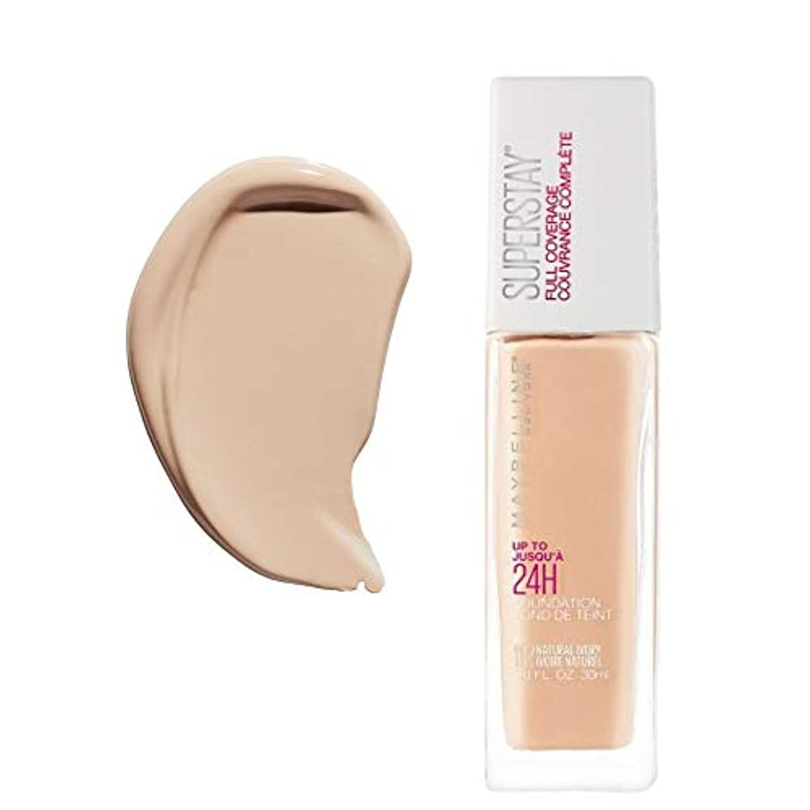 免除する未使用ステンレス(6 Pack) MAYBELLINE Superstay Full Coverage Foundation - Natural Ivory 112 (並行輸入品)