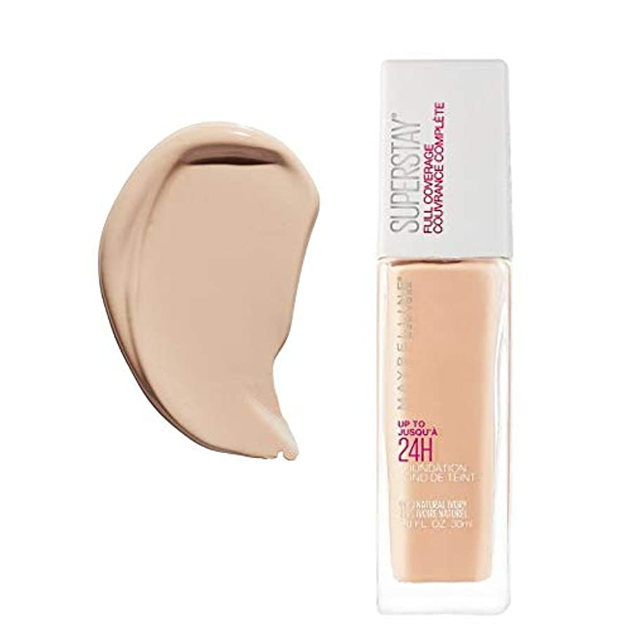 相関する投資別々に(6 Pack) MAYBELLINE Superstay Full Coverage Foundation - Natural Ivory 112 (並行輸入品)
