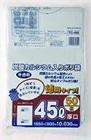 【お買得】ジャパックス 容量表示入りポリ袋 45L 白半透明 0.030mm 750枚 50枚×15冊入 TC65