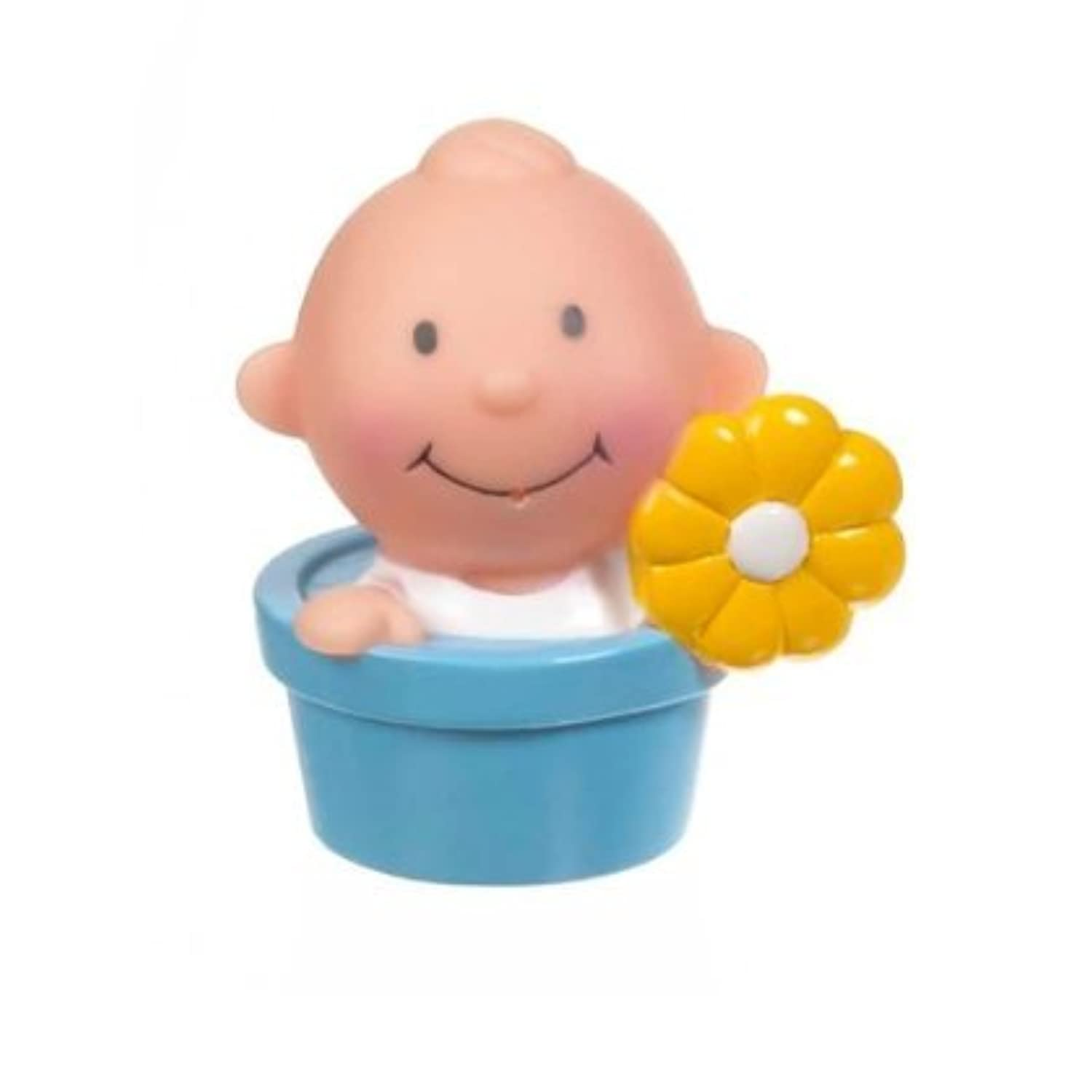 Blue Baby in Flower Pot Bath Squirter by Ganzおもちゃ[並行輸入品]