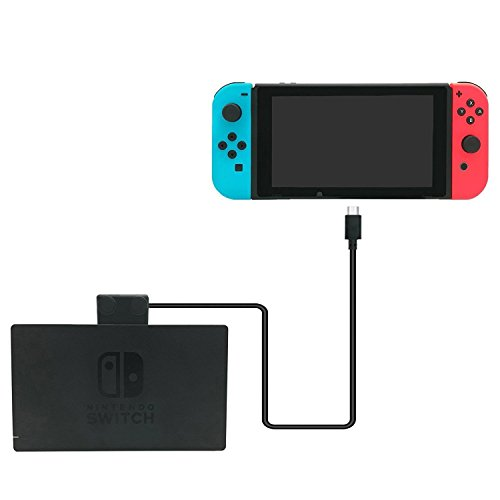 Nintendo Switch ドック セット 充電 ケーブル ShotR 排熱 冷却 液晶保護 TypeC 延長 ケーブル 高速充電 対応 10Gbps 画面転送 1m