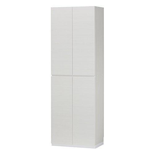RoomClip商品情報 - 白井産業【SHIRAI】下駄箱 シューズボックス 靴箱 ポルターレエントランス ホワイト 白 幅約60cm 高さ約180cm 【2梱包】 PRE-1860DWH