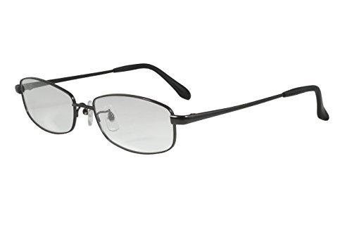 中宮虎熊商店 鯖江産 ブルーライトカット対応老眼鏡 虎熊スクエア チタン ブラック TS002 BK +1.5