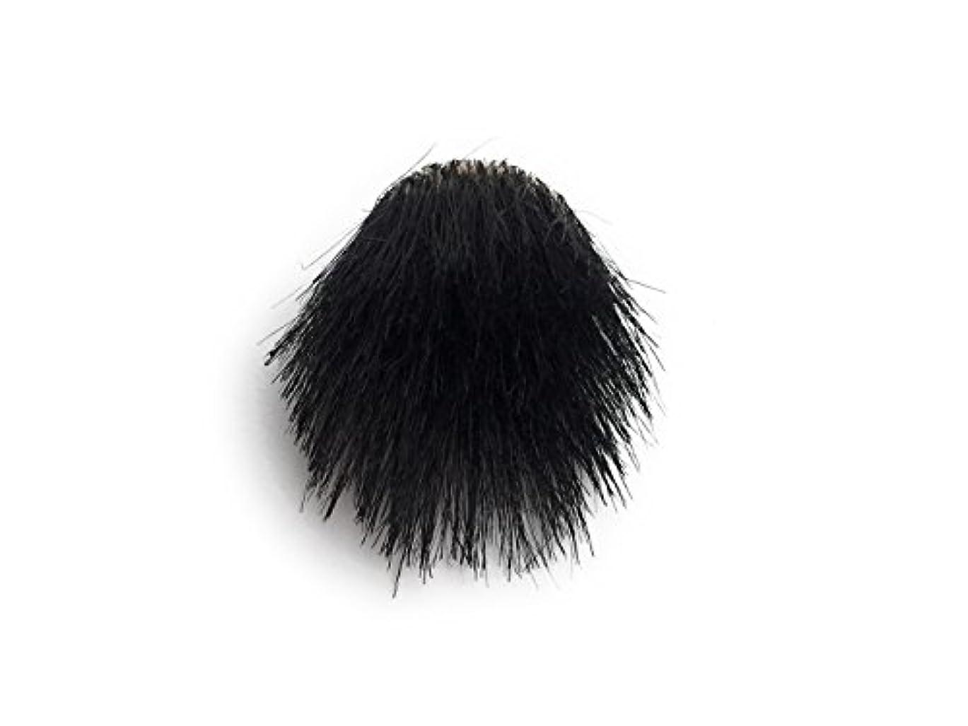 プロフィール過度に位置するミニサイズの短髪?刈り上げ用部分ウィッグ(側面?後頭部タイプ) ミニサイズ(本体直径1.9㎝) ブラック色 本体3個入+低刺激ミニサイズ専用シール40個付属(予備含む)※円形脱毛部分が直径1.9cm(1円硬貨サイズ)?2.1cm...
