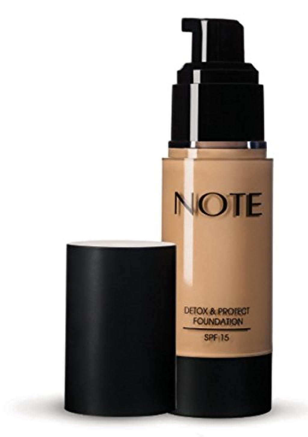 主導権しおれた労働NOTE Cosmetics デトックス&財団を守り、 3オンス 第07