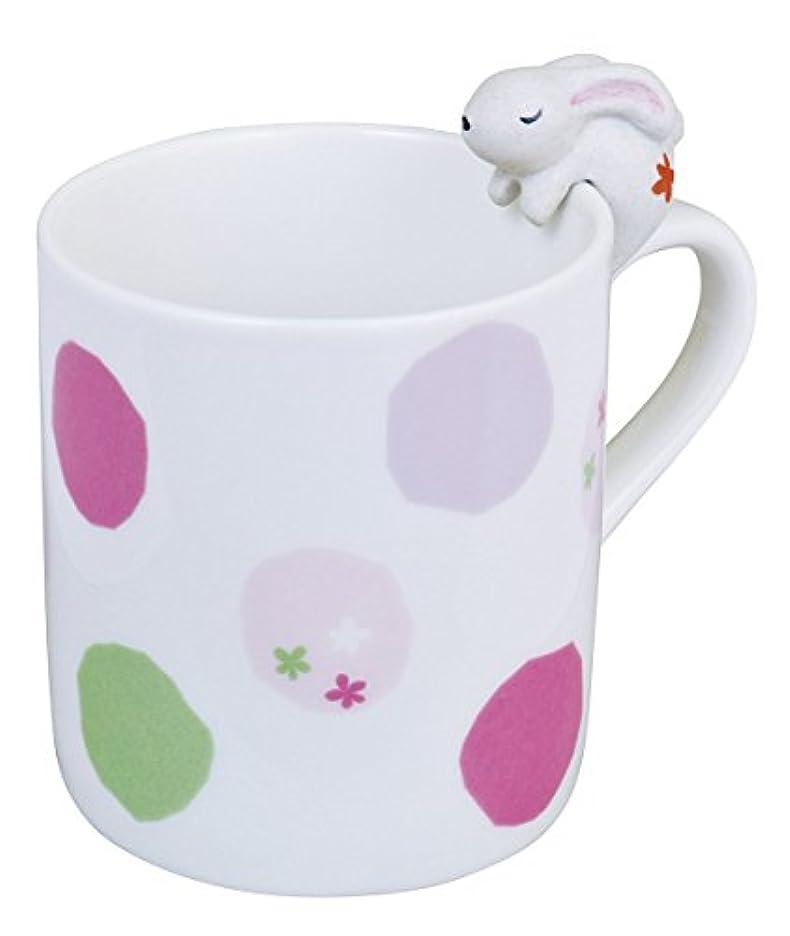 報奨金境界ショートカットアニマルマグカップ(ウサギ) G-8050 水玉B