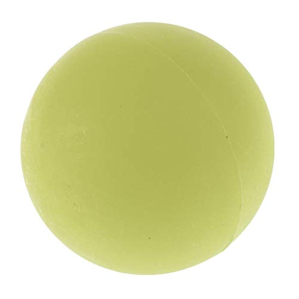 スリップシューズ狂信者臭いエクササイズ 筋膜リリース マッサージボール トレーニングボール ソフトボール ツボ押しグッズ 全4色 - 緑