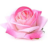Love Fairy Beautiful Rose Flower Hair Clip Pin up Flower Brooch for Party Travel Festivals