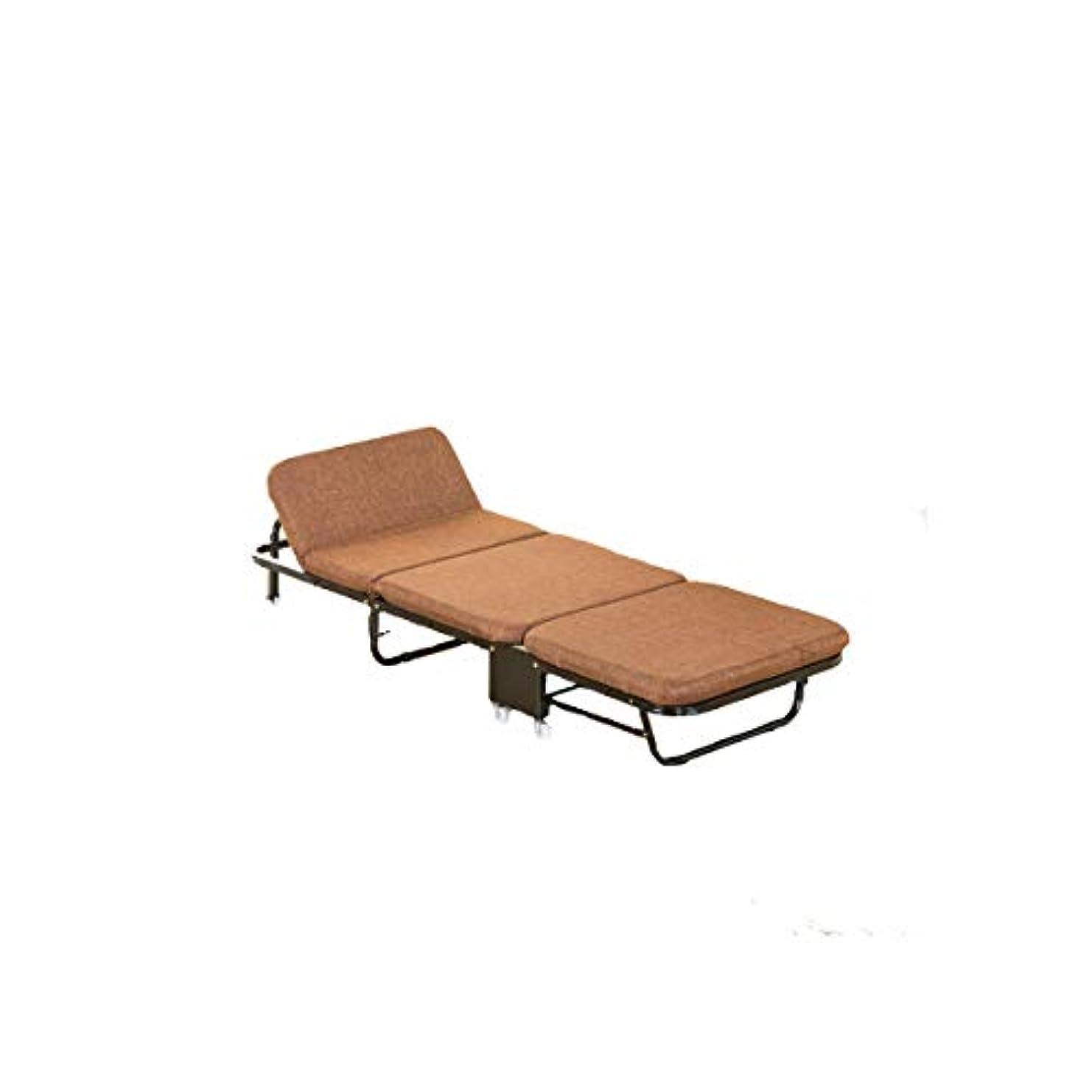 テスピアン感情の条約KEHUITONG 折りたたみ式ベッド、組み立て不要、シングルベッドホームスポンジベッドオフィスアダルトシンプルベッドポータブルナップベッドランチブレイク3折りたたみ式ベッド、デュアルユース、グレー(65cm、75フル、90cm)、コーヒー(65cm、75フル、90cm) (Color : Coffee, Size : 65cm)