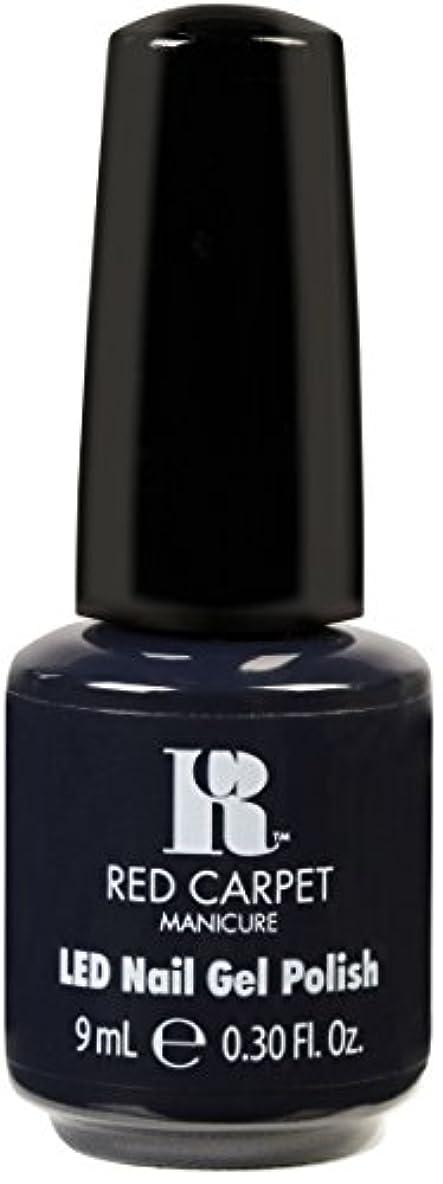 有効化家禽ルームRed Carpet Manicure - LED Nail Gel Polish - Midnight Affair - 0.3oz / 9ml