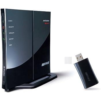 BUFFALO おまかせ節電 11n/g/b対応 無線LANルーター Air Station セット(USB) WHR-G301N/U