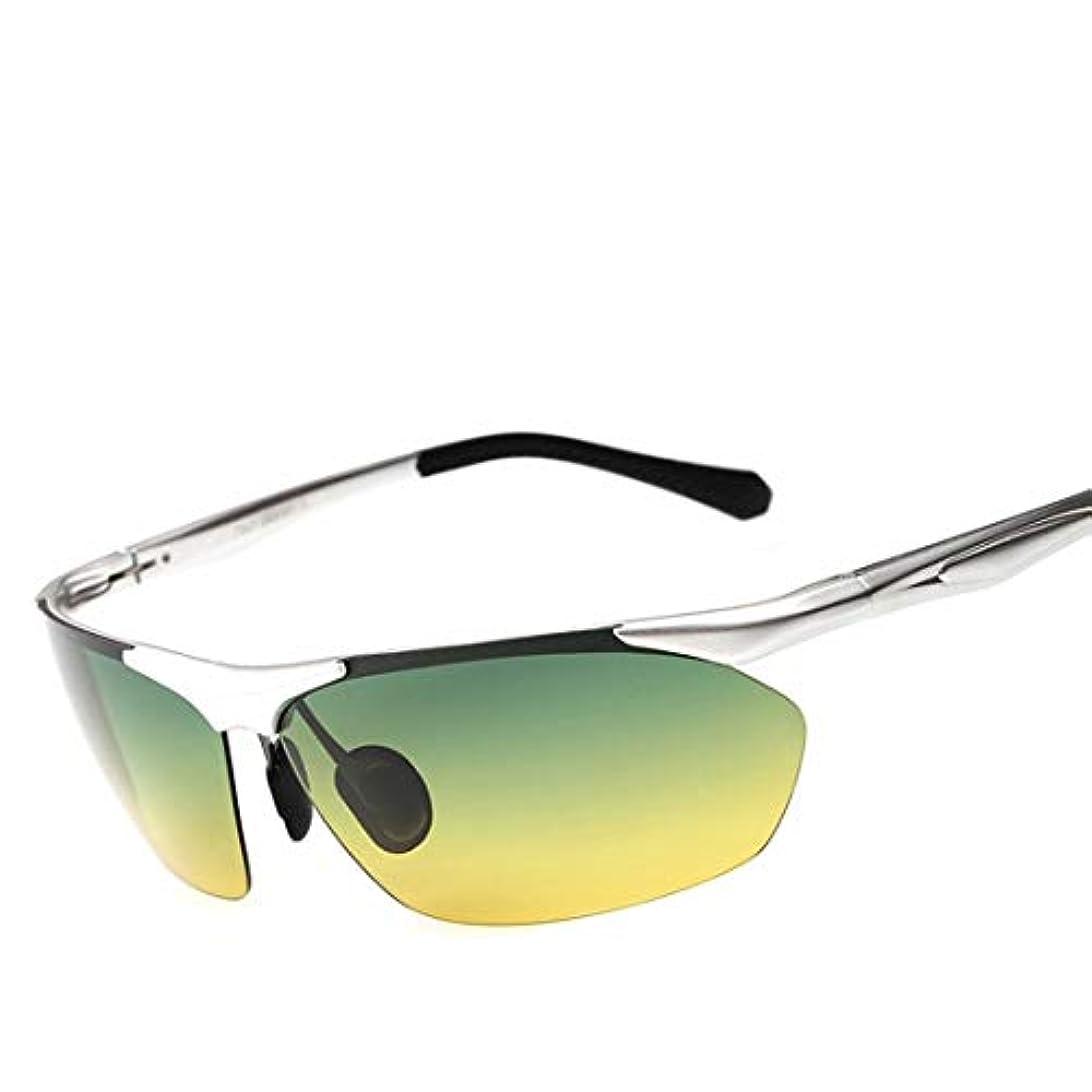 人工利益疑問を超えてKoloeplf スポーツ偏暗視ゴーグル、女性の男性のための駆動用ナイトビジョンメガネメガネ (Color : Silver)