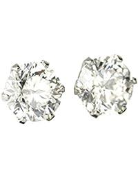 【 DIAMOND WORLD 】レディース ジュエリー PT900 ダイヤモンドピアス 大粒 1.0ct F?Gカラー ダイヤ使用 6本爪タイプ