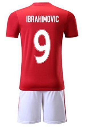 大人用 16-17 サッカー ユニフォーム マンチェスター・ユナイテッド HOME 9番 イブラヒモヴィッチ