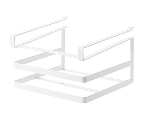 山崎実業 戸棚下まな板&布巾ハンガー タワー ホワイト 2493
