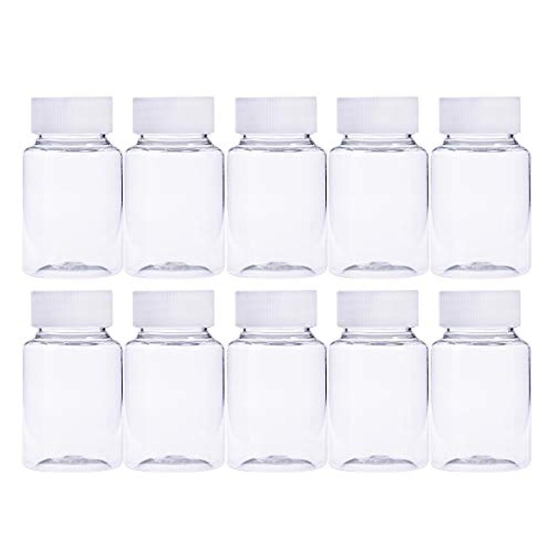 ベギン感度物理Frcolor 12個 80ml 小分けボトル 広口 クリア 詰め替え容器 薬保存 ビーズ収納 液体 化学薬品収納ボトル 化粧小分け容器 プラスチック容器