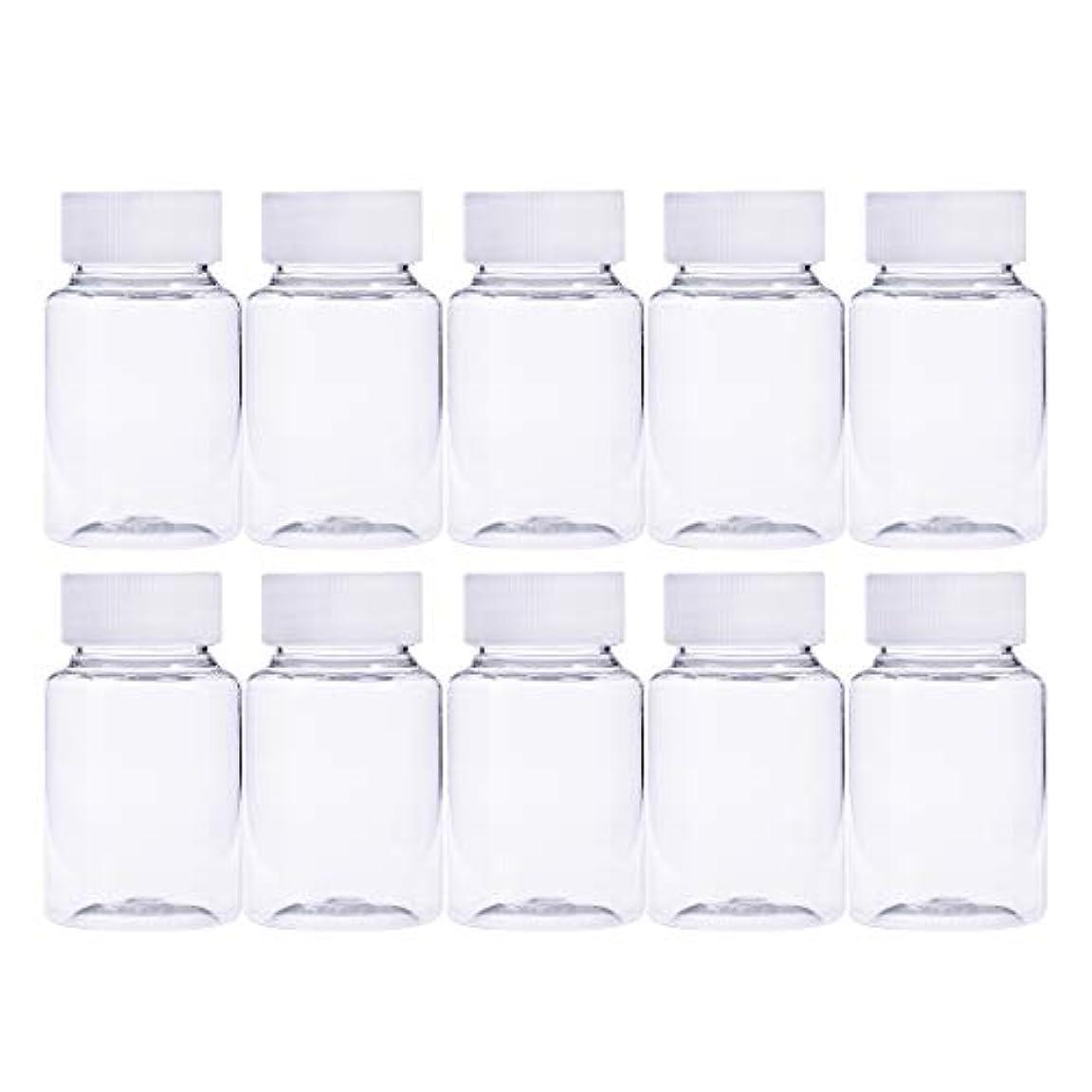 空いているどんよりしたセーターFrcolor 12個 80ml 小分けボトル 広口 クリア 詰め替え容器 薬保存 ビーズ収納 液体 化学薬品収納ボトル 化粧小分け容器 プラスチック容器