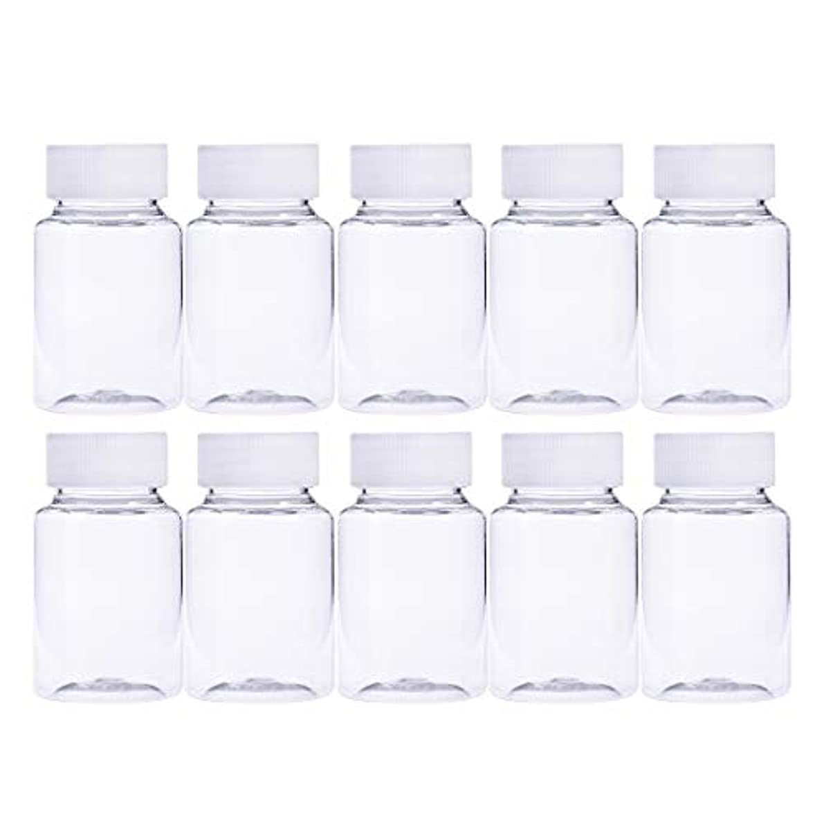 否認する単調な骨髄Frcolor 12個 80ml 小分けボトル 広口 クリア 詰め替え容器 薬保存 ビーズ収納 液体 化学薬品収納ボトル 化粧小分け容器 プラスチック容器