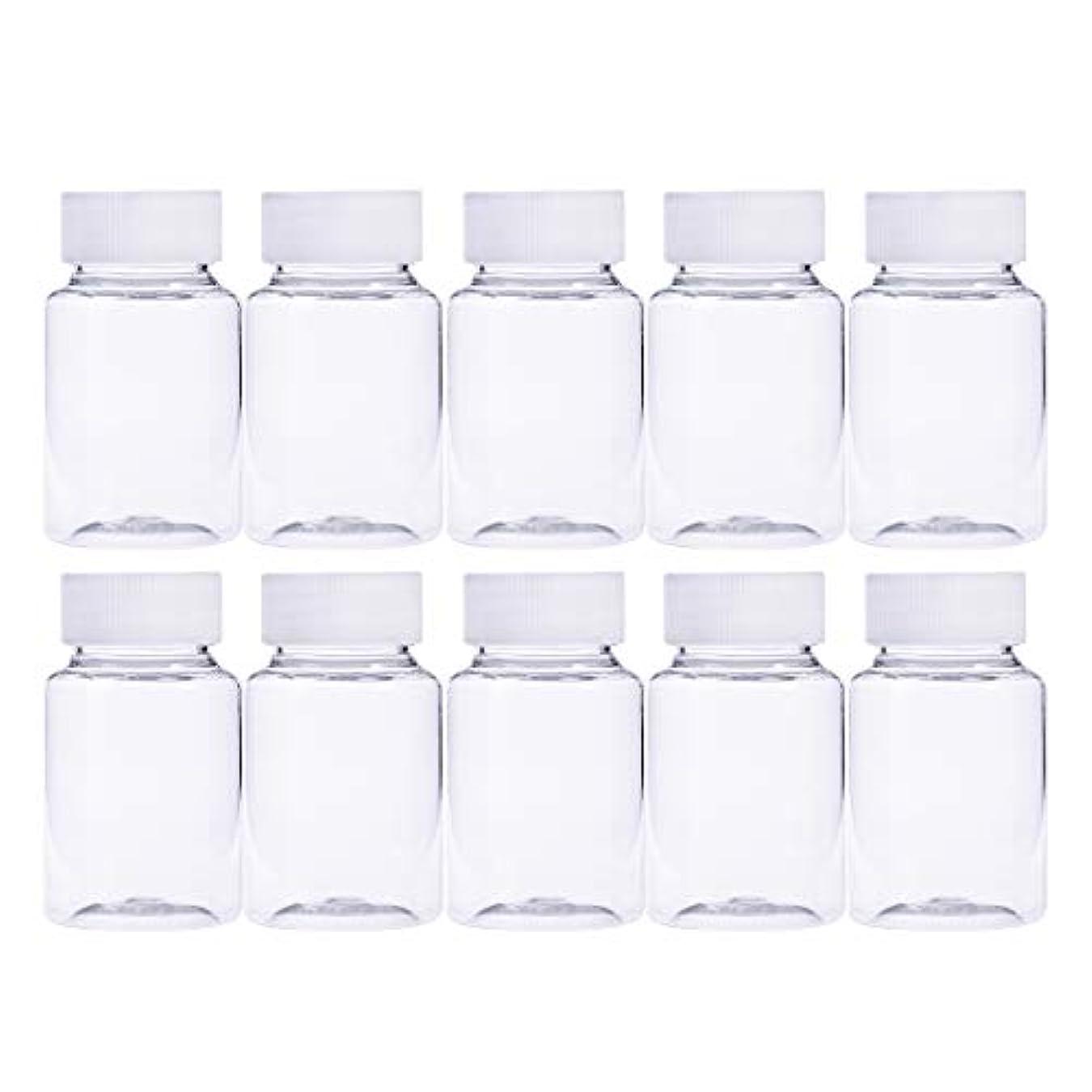 結婚火属性Frcolor 12個 80ml 小分けボトル 広口 クリア 詰め替え容器 薬保存 ビーズ収納 液体 化学薬品収納ボトル 化粧小分け容器 プラスチック容器