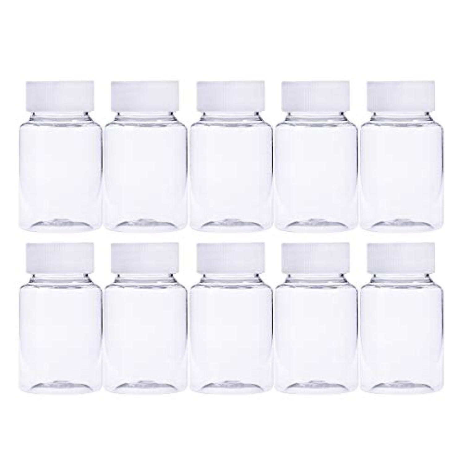 自伝きしむ注意Frcolor 12個 80ml 小分けボトル 広口 クリア 詰め替え容器 薬保存 ビーズ収納 液体 化学薬品収納ボトル 化粧小分け容器 プラスチック容器